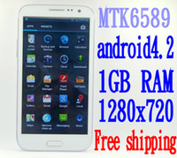 Phablets 1. 5Ghz Quad Core android 4. 2 phone MTK6589T with 1G...