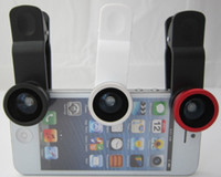 Wholesale generalduty universal Fisheye Wide Angle Macro in lens for Apple iPad iPhone4 S Samsung GALAXY SIII S3 Note