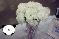 Wholesale real touch mini guelder hydrangea artificial silk fabric flower home decoration