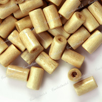 Wholesale MIC x5mm g Rice Yellow Wooden Tube Loose Beads Fit Bracelet Jewelry DIY