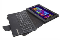 Wholesale Bluetooth Detachable Wireless Keyboard Case Leather Cover For ASUS VivoTab Smart ME400C Inch Tablet PC Black