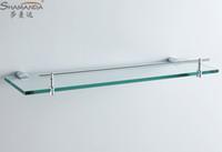 Wholesale Single bathroom Shelf glass shelf Brass Made Base glass shelf Bathroom Hardware Bathroom Accessories