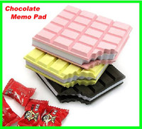 Wholesale 100pcs Novel gifts Chocolate Scented Notepad Memo Pad Notebook Pocket Memo Pads Writing Book