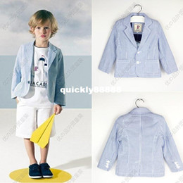 Wholesale Children s clothing French big J home boy striped suit small suit jacket children