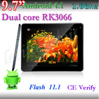 Wholesale Cheap Inch RK3066 IPS Tablet PC Android Dual Core Dual Camera Supper Slim G G Capacitive Screen