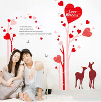 Wholesale Wall Stickers quot x67 quot Love Blooms Deer Pink Wedding Room Decals Decor Quote