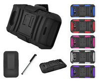 Wholesale For LG Motion G MS770 Metro Rhino Holster Combo Kickstand Hard Case Cover