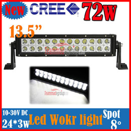 "2013 NEW 13.5"" 72W CREE 24PCSLED*(3W) Work Light Bar OffRoad SUV ATV 4WD 4x4 Spot Flood Beam 7200lm IP67 Driving Truck Lamp 9-32V Pure White"