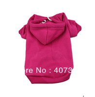 Wholesale MOQ Blank Dog Hoodies Color Mixed