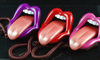Wholesale Hot in creative personalized telephone landline alternative big mouth funny red lips telephone landline