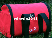 Wholesale Red pink blue canvas pet carrier bag for cat kitty
