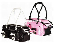 Wholesale Pink And Black Fashion Bone Pet Cat Carrier RB Travel Bags For Dogs