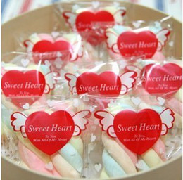 Wholesale 2014 sweet heart clear cookie biscuit plastic gift bag for food gift packaging 12*7cm