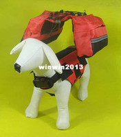 Wholesale Fashion Pet supplies red nylon dog backpack