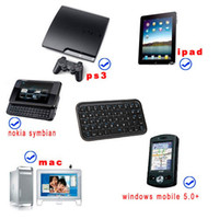 Wholesale Mini wireless bluetooth Slim keyboard for iphone ps3 Windows mobile cell phone tablet PC Accessories