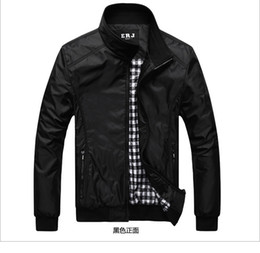 Wholesale Spring Autumn Thin Men s jacket Men coat leisure jacket lapel collar simple handsome zipper cardigans men jeckets