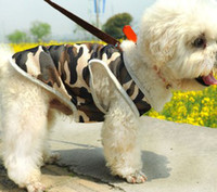 Wholesale Summer Small Pet Dog Camouflage Pattern Tank Tops Cats Dogs Mesh Military Sleeveless Shirts Pet Apparel B0652