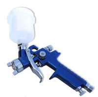 HVLP Hopper Gun 100cc Free shipping New Mini HVLP Air Spray Gun Auto Car Detail Touch Up Paint Sprayer Spot Repair SH-013