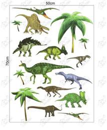 2015 fashion pop multiple dinosaurs stickers Wall Sticker Home Decor Room children Kids