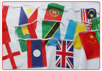Wholesale 2014 World Cup national activities decoration string flag in different countries on international banner flag DHL