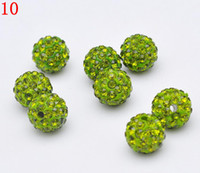 Wholesale 12 Color mix MM Crystal Rhinestone Beads Disco Ball Beads Shamballa Beads Fit For Bracelet
