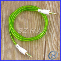 Wholesale 3 mm to mm Color Audio Aux Cable For iphone Samsung Mp3 Mp4 iPod PC mm Jack