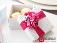 Wholesale 50Pcs Romantic Candy Boxes Wedding Favors Party Gift Holders