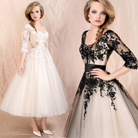 Wholesale Women Lady Elegant Sheer Half Sleeve Floral Dress Prom Ball Formal Evening Dinner Party Gowns Bridal Wedding Bridesmaid Dresses LF090