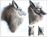 Wholesale masquerade party supplies halloween supplies latex yellow wolf mask