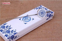 Wholesale by EMS piece wedding party Favors metal bookmark blue and white porcelain bookmarks classical bookmarks