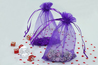 Wholesale 100pcs for choose Wedding Gift Luxury Organza Wedding Favor Xmas Gift Bags Jewellery Pouches x15cm Purple