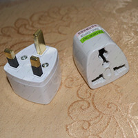 Wholesale GHJA274 US AU EU to UK Pin Travel Adapter Converter Outlet Plug PC White new