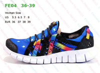 Cheap hot sale Woman Running shoes Free Run 4.0 Camouflage blue womens