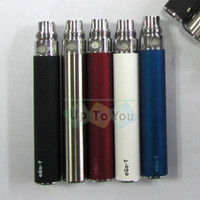 Wholesale Colorful mAh mAh mAh eGo T batteries for eGo CE4 electronic cigarettes batteries for eGo ViVi Nova battery for G5 Vaporizer E CIG