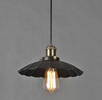 Wholesale Loft RH American Industrial Style Antique Metal Lotus Leaf Pendant Light Chandelier Dining Room Lamp Dia mm H mm