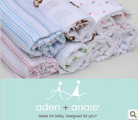 Wholesale Aden Anais Multifunctional Newborn Swaddle Big Size Baby Towel Muslin Cotton Baby Blankets x110cm