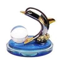 Wholesale 5ml Fashion Dolphin Car Perfume Bottle Air Freshener Fragrance Cosmetic Container Interior Decoration QC031