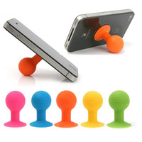 Wholesale Colorful Octopus Silicone Rubber Cell Phone Sucker Stand Bracket Mini Ball Mount Holder for samsung HTC ipod Touch iphone G S