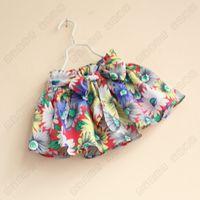baby girl kids cotton skirt vintage rosette flower floral sk...