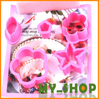 Wholesale Fondant mold tool roses flower shaped cut molds sets