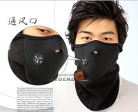 Wholesale 2013 new New Paintball Bicycle Motorcycle Ski Winter Warm Neck Half Face Mask Black