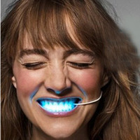 Wholesale 24pcs Novelty Party Fun Light Emitting Diode LED Teeth Lamp Color Changing led teeth braces toothsocket