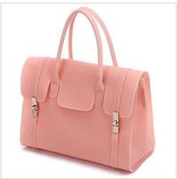 Wholesale 2013 the new tide fashion motorcycle bag transparent jelly candy color handbag handbag