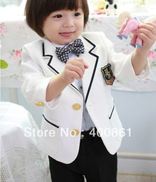 Wholesale Notch Lapel Kid Tailcoat Suits Boy s Special Occasion Clothes AA