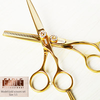 Wholesale Hot sale scissors set gold titanium inch hair professional hair thinning scissors and hair cutting scissors