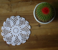 Wholesale cotton hand made crochet doily lace cup mat vase mat coaster X15cm table mat customization