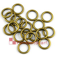 Circle antique scarf - 50PCS Hot Fashion DIY Jewellery Scarf Pendant Antique Bronze Plated Plastic CCB Round Circle Charm Rings AC0057B