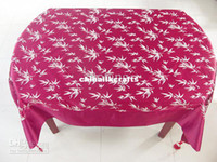 Wholesale Chinese Rectangle Pink Damask Tablecloth Table Covers Luxury Party Table Cloths High End Tablecloths size L x W m Free