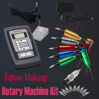 1 Gun Rotary Tattoo Kit New Permanent Tattoo Makeup Rotary Machine Kits 20 Needles Assorted Tattoos Supply