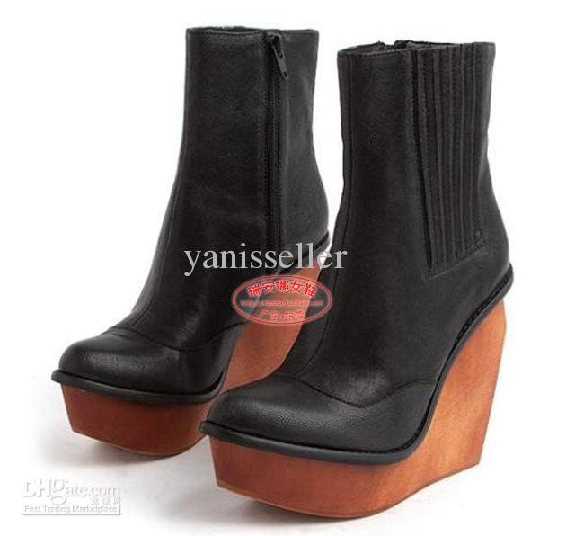 Jeffrey Campbell Brisbane Heeled Ankle Boots Platform Wedges ...